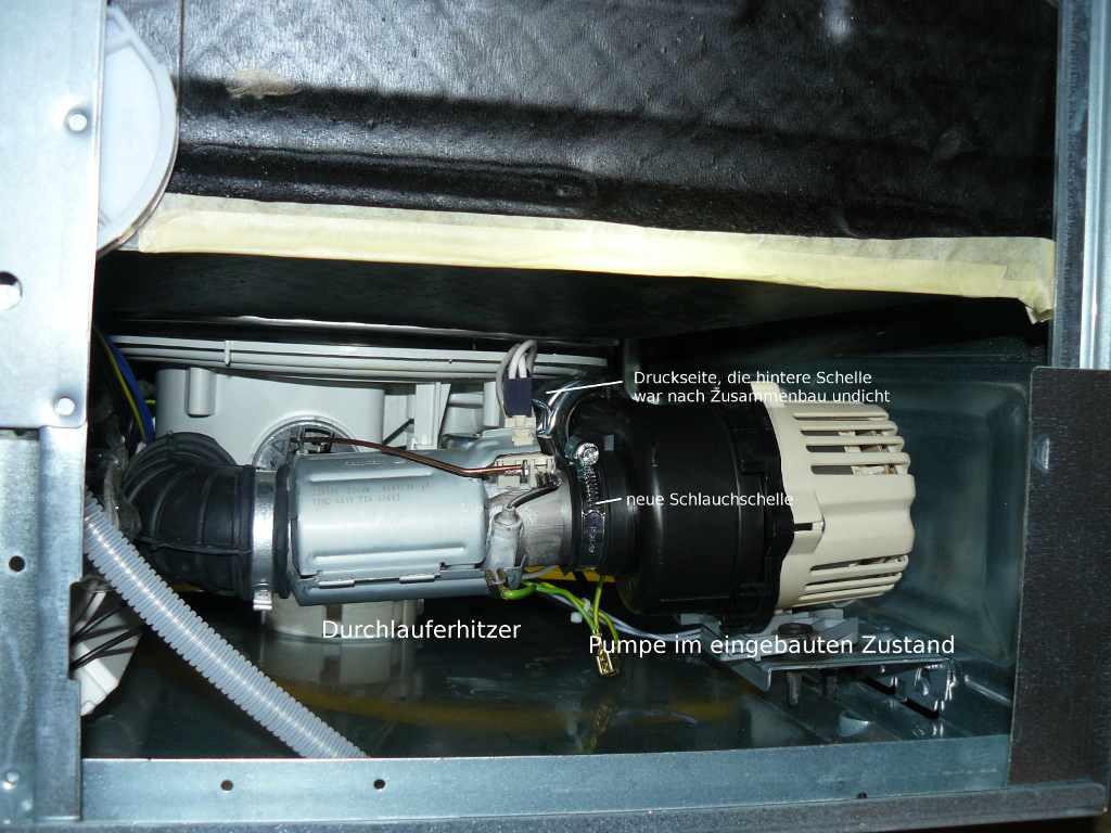 Bauknecht waschmaschine fehlermeldung pumpe